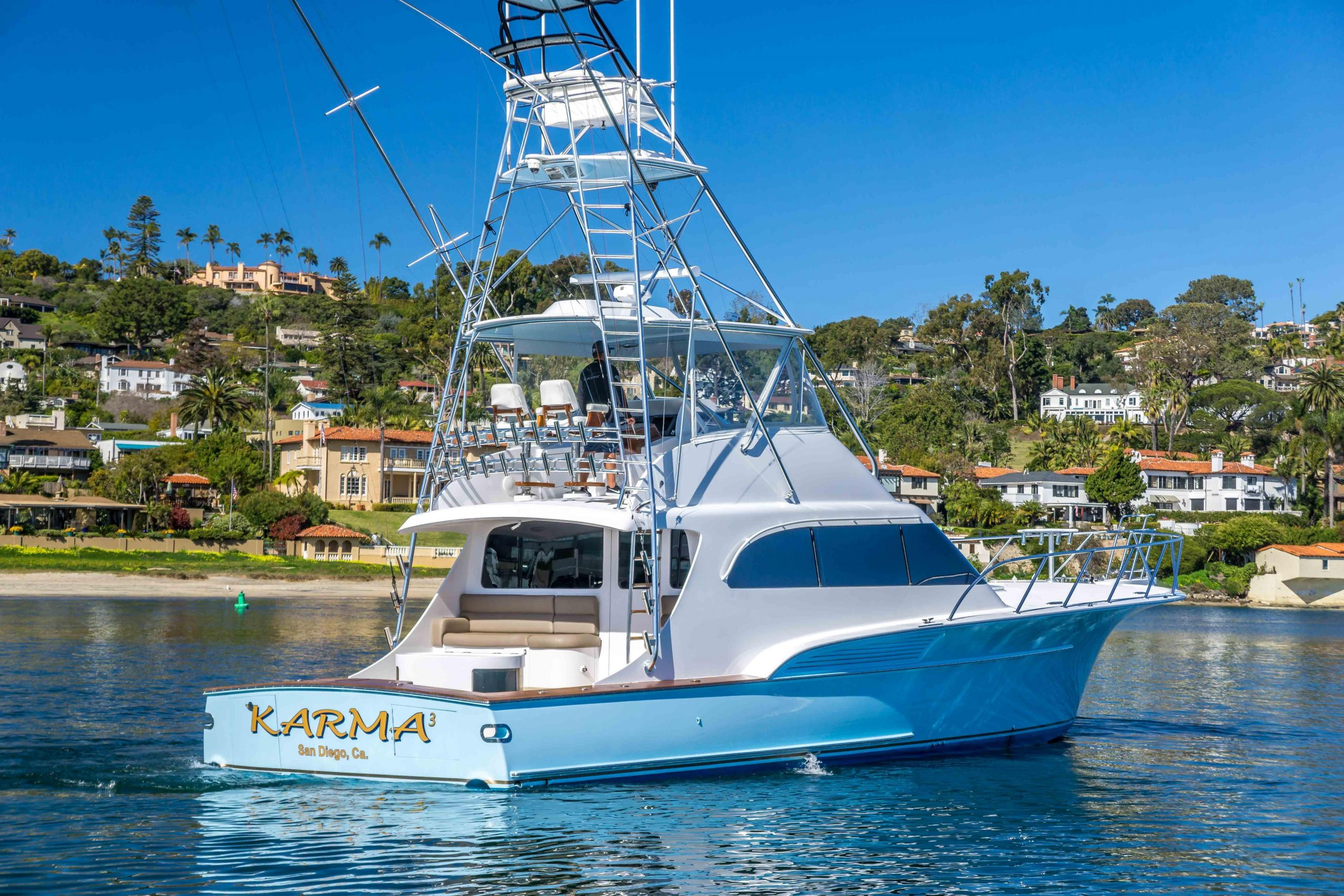 KARMA is a Sculley Custom Carolina Sportfisher Yacht For Sale in San Diego-0