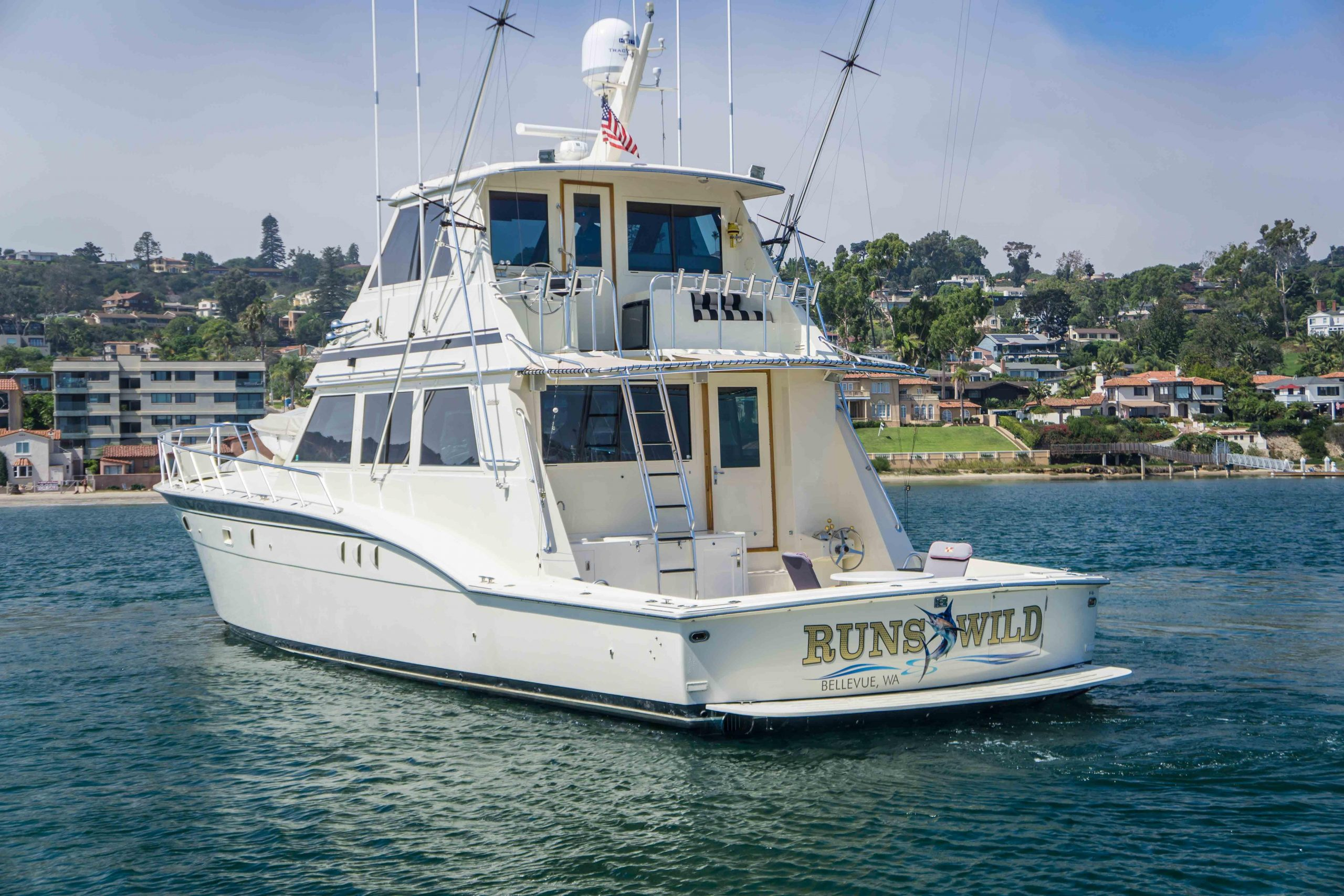 RUNS WILD is a Hatteras Enclosed Bridge Yacht For Sale in San Diego-0