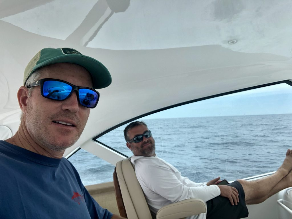 Captain Michael Kusler and Peter Giacalone