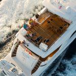Hatteras 105 Raised Pilothouse Back Deck Top Down