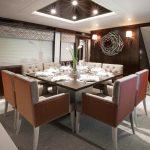 Hatteras 105 Raised Pilothouse Formal Dining Area