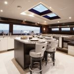 Hatteras 105 Raised Pilothouse Galley and Dining Area