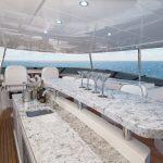 Hatteras 105 Raised Pilothouse Top Deck Forward