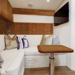 Hatteras GT45 Express Dining Area Wood