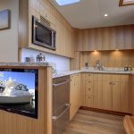 Hatteras GT45 Express Galley With TV Light