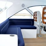 Hatteras GT45 Express Helm Deck Seating