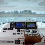 Hatteras GT45 Express Lower Helm Electronics