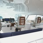 Hatteras GT45 Express Lower Helm on Flybridge