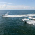 Hatteras GT45 Running Side By Side