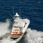 Hatteras GT45 Express Stern Running With Tower