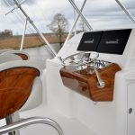 Hatteras GT45 Express Teak Flybridge Helm