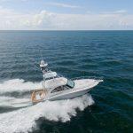 Hatteras GT45 Underway Starboard