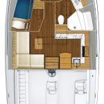 Hatteras GT45 Express Two Stateroom Rendering