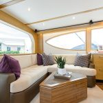 Hatteras GT54 Couch Seating