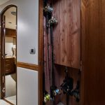 Hatteras GT59 Rod Storage