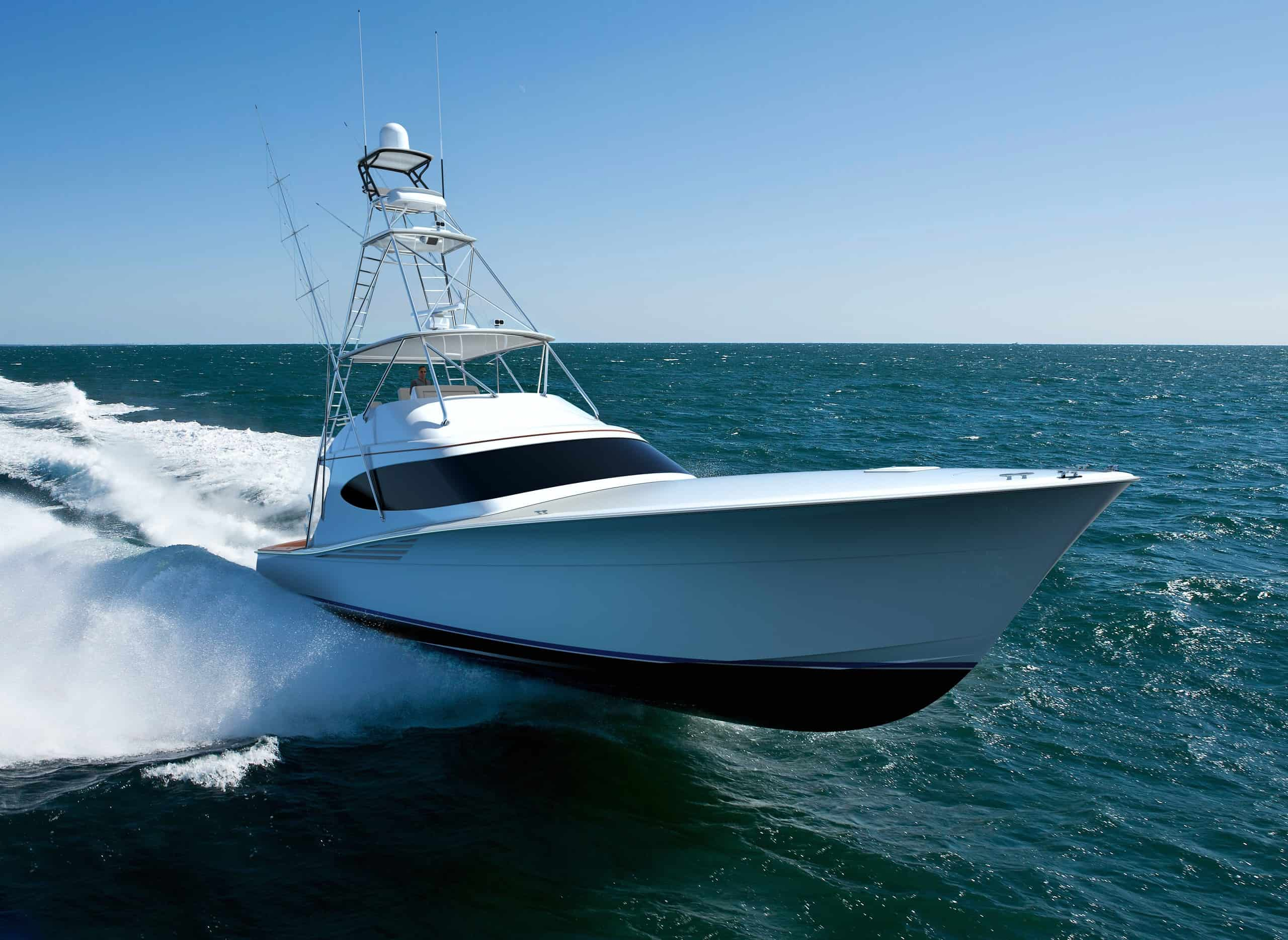 Hatteras GT65 Carolina Bow Running