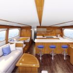 Hatteras GT65 Carolina Full Salon Rendering