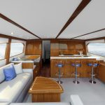 Hatteras GT65 Carolina Salon Rendering