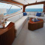 Hatteras GT70 Salon Couch