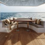 Hatteras M60 Aft Seating Area