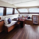 Hatteras M60 Dining Area