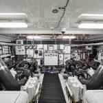 Hatteras M90 Panacera Engine Room