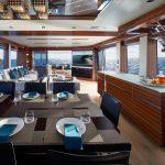 Hatteras M90 Panacera Salon and Dining