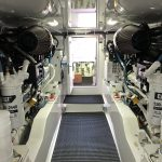 Hatteras GT65 Carolina Engine Room