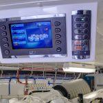 Hatteras GT70 Enclosed Bridge Engine Controls