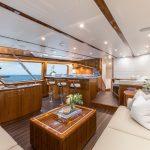 Hatteras GT70 Enclosed Bridge Full Salon Port Side