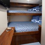Hatteras GT70 Enclosed Bridge Guest Bunk Room