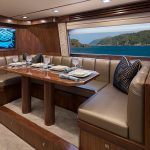 Viking Yachts 80 Enclosed Bridge Salon Dining