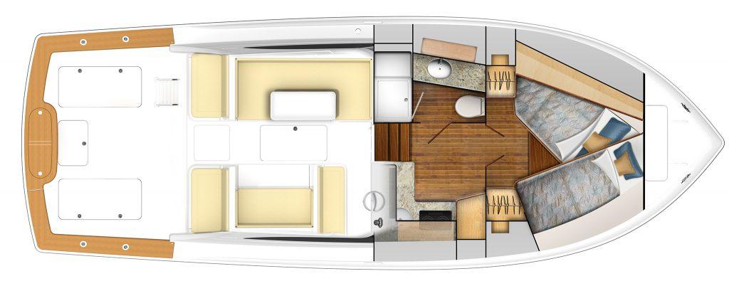 Viking 38 Billfish Internal Accommodations
