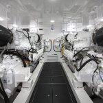 Viking 80 Enclosed Bridge Engine Room