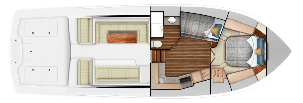 Viking 46 Billfish Accommodations