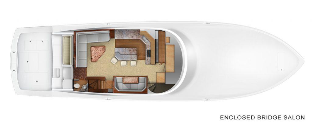 Viking 72 Enclosed Bridge Accommodations