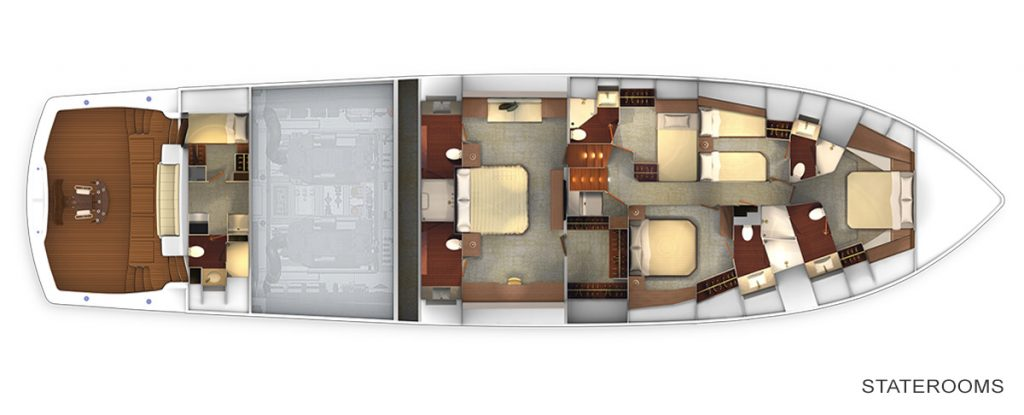 Viking 92 SkyBridge Staterooms Accommodations