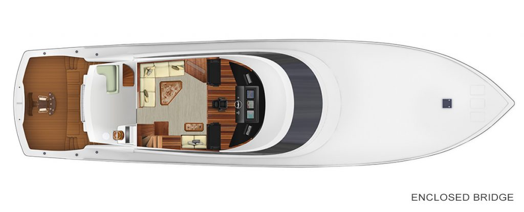 Viking 92 Convertible Enclosed Bridge Accommodations