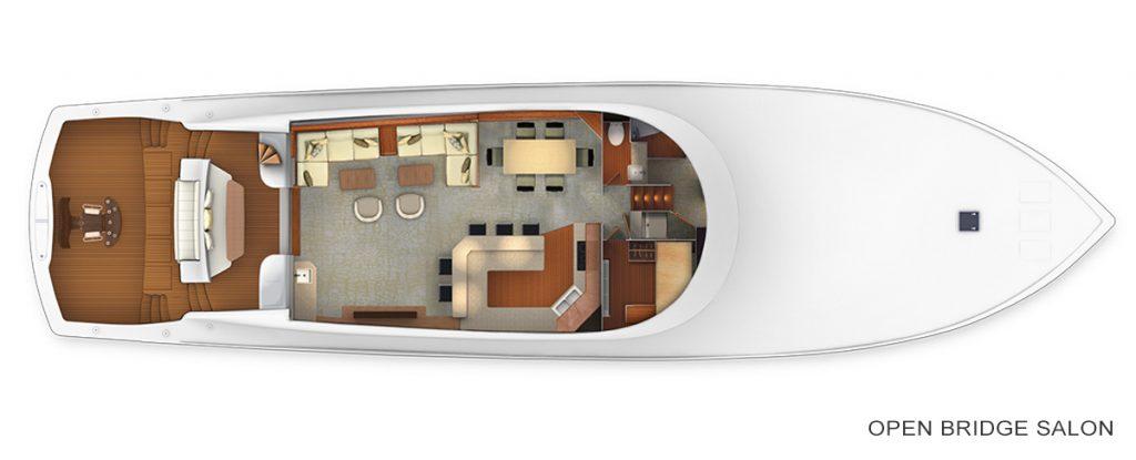 Viking 92 Convertible open Salon Accommodations