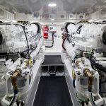 Viking Yachts 68 Enclosed Bridge Engine Room