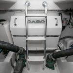 Cabo 47 Flybridge Engine Room