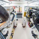 Cabo 43 Flybridge Engine Room