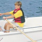 Boston Whaler 100 Tender Rowing