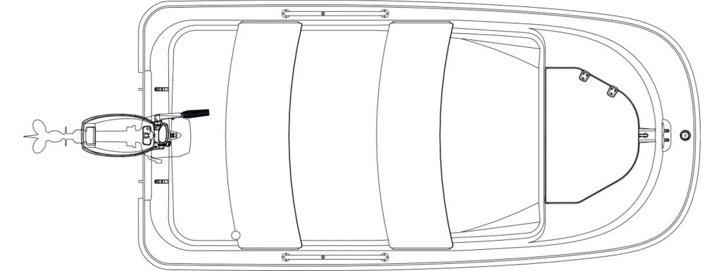 Boston Whaler 110 Tender Deckplan