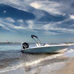 Boston Whaler 160 Super Sport Beached
