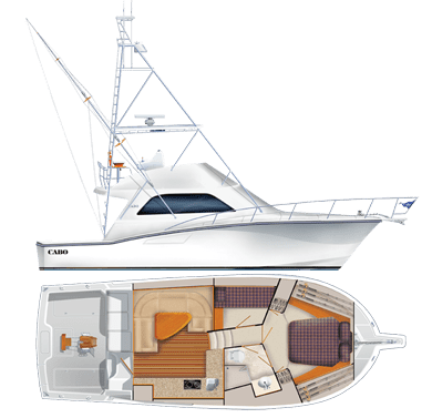 Cabo 38 Flybridge Specifications
