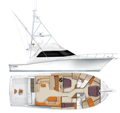 Cabo 52 Flybridge Specifications