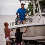 Boston Whaler 240 Dauntless hitched