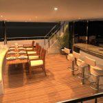 Ocean Alexander 135 Mega Yacht Dining