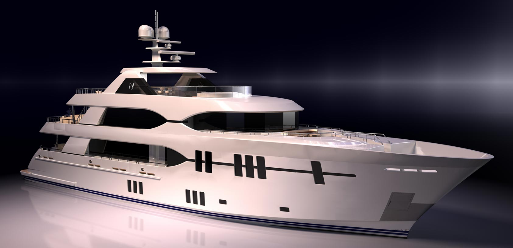 Ocean Alexander 135 Mega Yacht Exterior